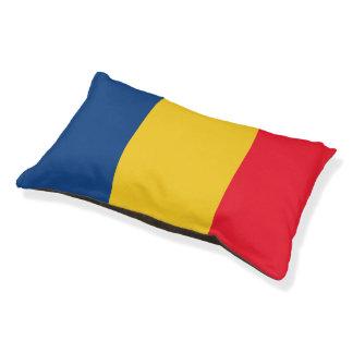 Bandera de República eo Tchad Cama Para Perro Pequeño