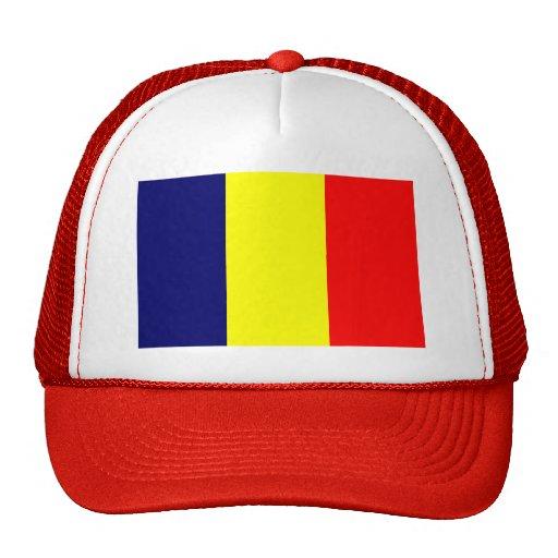 Bandera de República eo Tchad Gorro De Camionero