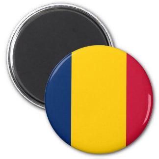 Bandera de República eo Tchad Imán Redondo 5 Cm