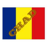 Bandera de República eo Tchad Postal