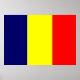 Bandera de República eo Tchad Póster