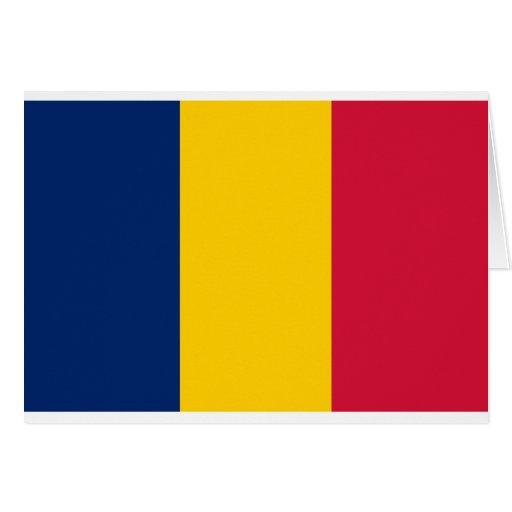 Bandera de República eo Tchad Tarjeta De Felicitación