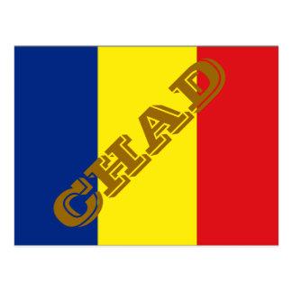 Bandera de República eo Tchad Tarjetas Postales