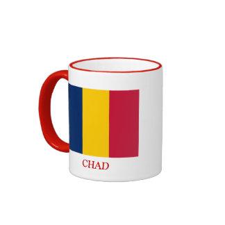 Bandera de República eo Tchad Taza A Dos Colores