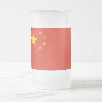 Bandera de República Popular China Taza De Cristal