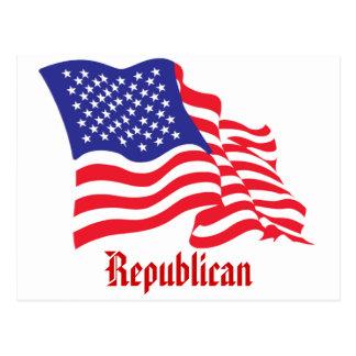 Bandera de Republican/USA/American Tarjeta Postal