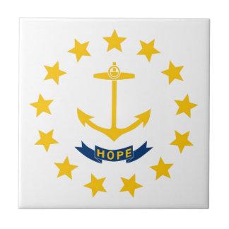 Bandera de Rhode Island Azulejo Cuadrado Pequeño
