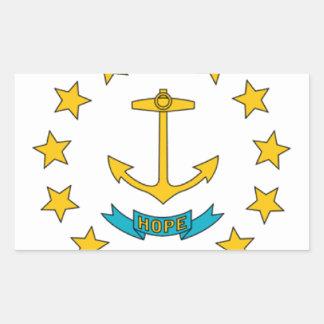 Bandera de Rhode Island Pegatina Rectangular