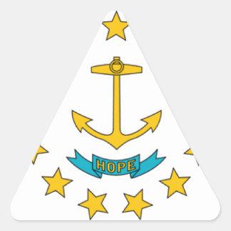 Bandera de Rhode Island Pegatina Triangular