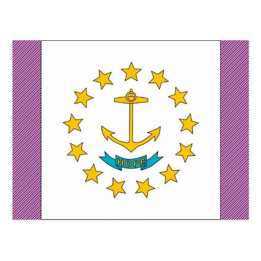 Bandera de Rhode Island Postales