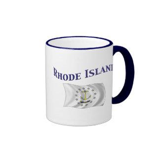 Bandera de Rhode Island Tazas De Café