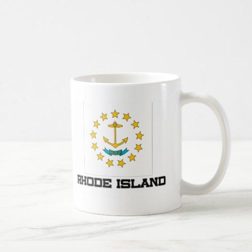 Bandera de Rhode Island Taza Básica Blanca