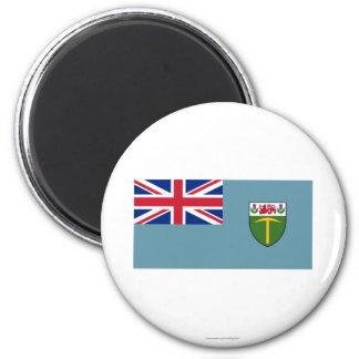 Bandera de Rhodesia (1964-1968) Imán Redondo 5 Cm