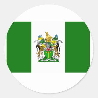 Bandera de Rhodesia Pegatina Redonda