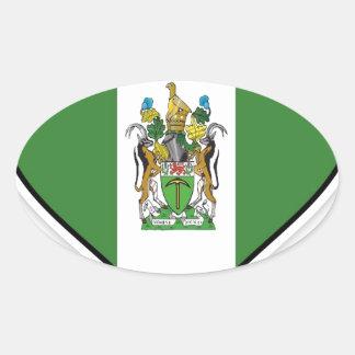 Bandera de Rhodesian Pegatina Ovalada