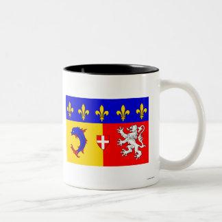Bandera de Rhône Alpes Tazas