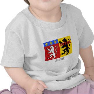 Bandera de Rhône con nombre Camiseta
