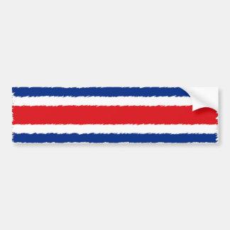 Bandera de Rican de la costa Pegatina De Parachoque