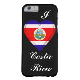 Bandera de Rican del coste de Costa Rica Funda De iPhone 6 Barely There