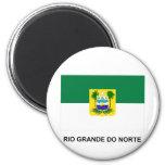 Bandera de Rio Grande do Norte, el Brasil Imán Redondo 5 Cm