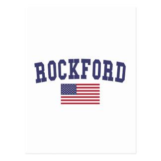 Bandera de ROCKFORD los E.E.U.U. Postal