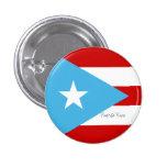 Bandera de rojo de Puerto Rico y blanco azules Pin Redondo De 1 Pulgada