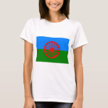 Bandera de Roma (bandera Romani) Playera