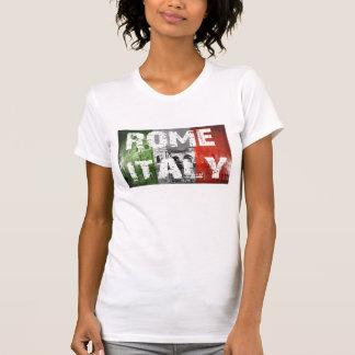 Bandera de Roma Italia sobre coliseo Remera