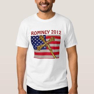 Bandera de ROMNEY 2012 los E.E.U.U. y camiseta de Remera