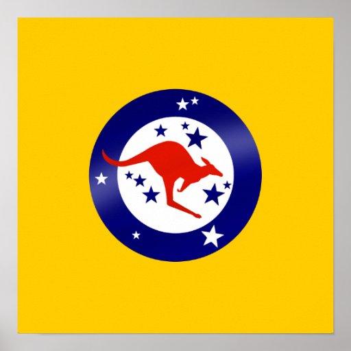 Bandera de Roo del gráfico redondo de las ilustrac Poster