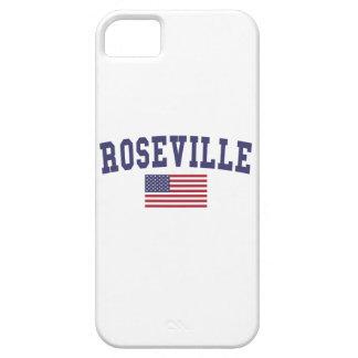Bandera de Roseville MI los E.E.U.U. iPhone 5 Carcasa