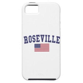 Bandera de Roseville MI los E.E.U.U. iPhone 5 Fundas