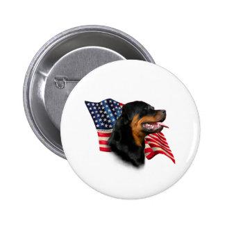 Bandera de Rottweiler Pin Redondo De 2 Pulgadas