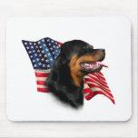 Bandera de Rottweiler Tapete De Ratón