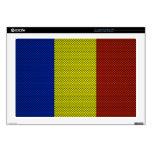 Bandera de Rumania con efecto de la fibra de carbo Skins Para 43,2cm Portátiles
