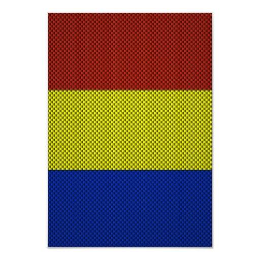 Bandera de Rumania con efecto de la fibra de Anuncio