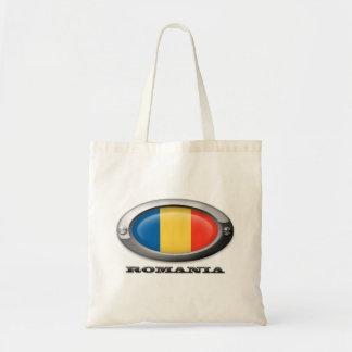 Bandera de Rumania en el marco de acero Bolsa Tela Barata