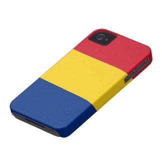 Bandera de Rumania iPhone 4 Case-Mate Coberturas