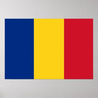 Bandera de Rumania Poster