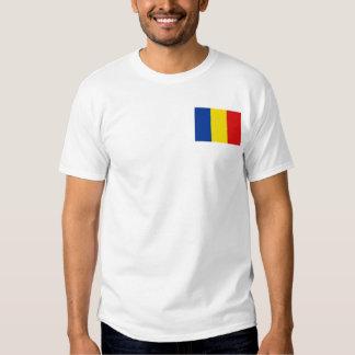 Bandera de Rumania y camiseta del mapa Remera