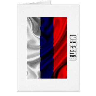 Bandera de Rusia, bandera rusa Tarjeta