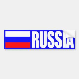 Bandera de Rusia Pegatina De Parachoque