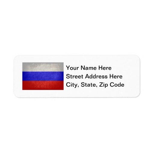 Bandera de Rusia Etiqueta De Remite