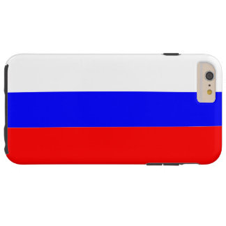Bandera de Rusia Funda De iPhone 6 Plus Tough