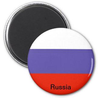 Bandera de Rusia Imán Redondo 5 Cm