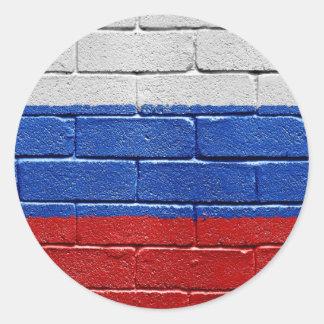 Bandera de Rusia Pegatinas Redondas