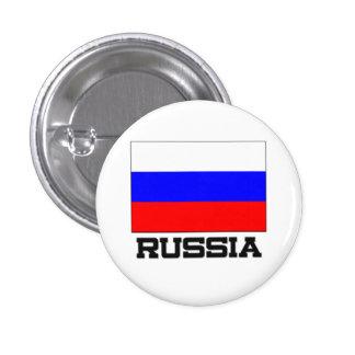 Bandera de Rusia Pin Redondo De 1 Pulgada