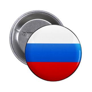 Bandera de Rusia Pin Redondo De 2 Pulgadas