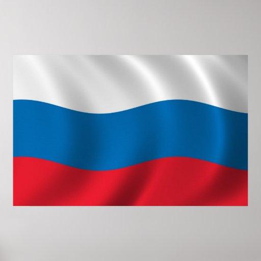 Bandera de Rusia Póster