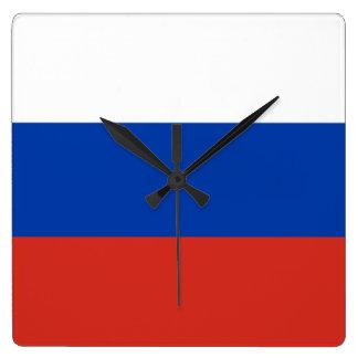 Bandera de Rusia Relojes De Pared